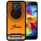 PERSONALIZED RUBBER CASE FOR SAMSUNG S8 S7 S6 S5 EDGE PLUS ACOUSTIC GUITAR