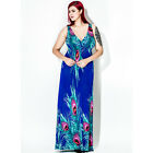 New Plus Size Women Sexy V-neck Boho Maxi long Summer Cocktail Party Beach Dress