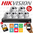NVR DS-7608NI-E2 UK FIRMWARE & 6x Hikvision DS-2CD2320-I Dome 30m IR CCTV SYSTEM