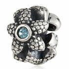 Sterling Silver 925 European Charm Starfish w/ Blue Stone Bead 99275