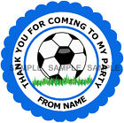 Personalised Football stickers For Sweet Cones etc, 3 Sizes - Ref MX03-25