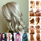 Women Full Head 100% Real Remy Clip in on Human Hair Extensions 15-36inch