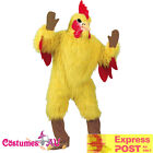 Mens Chicken Costume Adults Yellow Rooster Mascot Animal Party Hens Fancy Dress