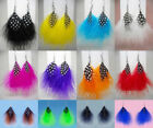 JF289 Wholesale Lots Feather Earrings Light Simple Dangle You Pick Quantity New