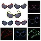 El Wire LED Brille Partybrille Leuchtbrille Herz Shaped Glasses Party Disco