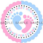 Personalised Baby Shower stickers, 3 Sizes - Ref 01-01