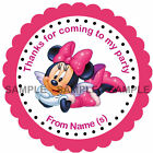 Personalised Minnie stickers For Sweet Cones etc, 3 Sizes -c Ref MX01-02A
