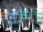 Handcrafted Pilsner Glass- World's Best (Uncle, Brother, Son, Dad, Grandpa)