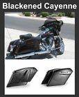 """Blackened Cayenne 4.5"""" Stretch Extend Saddlebags fit 14-17 Harley Touring Street"""