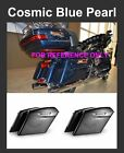 "Cosmic Blue Pearl 4.5"" Stretch Extend Saddlebags fit 14-17 Harley Touring Street"