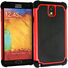 Shock Proof Dual Layer Hard & Soft Cover Case For Samsung Galaxy Note 2 3 4