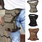 US Fast Canvas Tactical Motorcycle Riding Hip Fanny Pack Waist Thigh Drop Bag