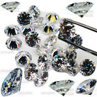 CUBIC ZIRCONIA /CZ 5 A ( AAAAA )  WHOLESALE 10~20 / EACH SIZES LOT WHITE RD CZ