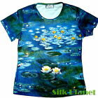 CLAUDE MONET Waterlilies Lily Pond IMPRESSIONISM PAINTING T SHIRT FINE ART PRINT