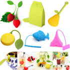 Silicone Tea Infuser Loose Tea Leaves Herbal Strainer Colors UK Seller