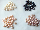 teardrop genuine natural freshwater pearl half drilled loose beads USA BY EUB
