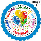 Personalised Balloons stickers, 3 Sizes - For Sweet Cones etc Ref MX06-45