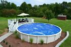 15' x 24' Oval Blue Swimming Pool Solar Cover Blanket 12 Mil