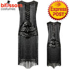 K353 Deluxe 1920 Flapper Dress Great Gatsby Charleston 20s Abbey Sequins Costume