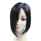 Handmade Mono Silk Base Seamless Top Piece Straight Clip in Hair Topper Toupee