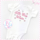 Personalised Baby Vest/Bodysuit, Unique Gift for baby girl- Any text embroidered