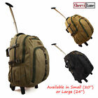 """High Quality Canvas Wheeled Backpack 20"""" - 24"""" Hand Luggage Holdall Travel Bag"""