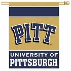 "PITTSBURGH PITT PANTHERS Vertical Flag Banner  27"" x 37"" NCAA  NEW"