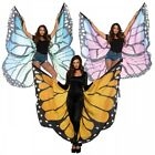 Butterfly Wings Costume Cape Adult Women Teen Girls Halloween Fancy Dress