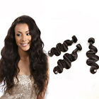 3 Bundles Virgin Brazilian Body Wave Unprocessed Human Remy Hair Natural Weft 7A