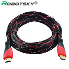 1m 3m 5m Gold Plated Nylon HDMI Cable For BLURAY 3D DVD PS3 HDTV XBOX 1080P