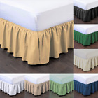 "1PC BEDDING DRESSING BED PLEATED SKIRT WITH OPEN CORNERS 14"" INCH DROP SIZE FULL image"