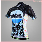 Women Cycling Bicycle Short Sleeve Breathable Sport Suit Set Jersey Shorts