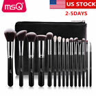 US DELIVERY MSQ 15pcs Makeup Brushes Sets Synthetic Hair Wit