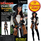 CA227 Pirate Wench Caribbean Buccaneer Swashbuckler Fancy Dress Womens Costume