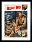 WAR KEEP FEET DRY CLEAN TRENCH FOOT NEW ART FRAME PRINT PICTURE F12X978