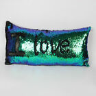 US STOCK Reversible Mermaid Pillow Sequin Cover Glitter Sofa Cushion Case Cover