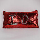 US STOCK Reversible Mermaid Pillow Sequin Cover Glitter Sofa Cushion Case Cover фото