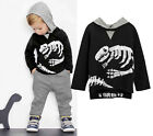 Kid Baby Boy Girl Dinosaur Hoodie Hooded T-shirt Top Clothes Jumper+Pants Outfit