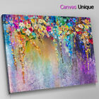 AB1535 modern floral grunge purple Abstract Canvas Wall Art Framed Picture Print