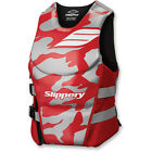 New Mens Guys Slippery Array Side Entry Neo Vest Life Vest Red Grey Camo S-2X