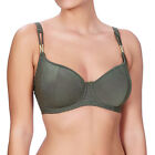 Freya Swimwear Glam Rock Underwired Sweetheart Padded Bikini Top Olive 3839