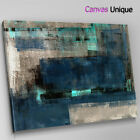 AB1628 dark blue grunge effect Abstract Canvas Wall Art Framed Picture Print