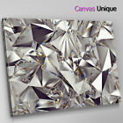 AB1572 silver shiny diamond metal Abstract Canvas Wall Art Framed Picture Print