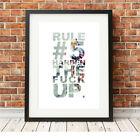 Andy Hampsten ❤ CYCLING ❤ Rule 5 poster art Limited Edition Print in 5 sizes #7