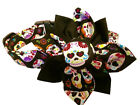 SPIFFY POOCHES Dog Collar SUGAR SKULLS CROSS BONES Blossom Flower XS SM MED LG