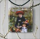 RENOIR TWO SISTERS CLASSIC ART PENDANT NECKLACE 3 SIZES CHOICE -ker3Z