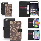 faux leather wallet case for many Mobile phones - multi paw