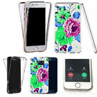 Shockproof 360° Silicone Clear case cover for many mobiles- purple pompon