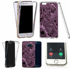 Shockproof 360° Silicone Clear Case Cover For many mobiles - marble design 340