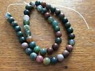 INDIAN AGATE GEMSTONES approx 39cm string x 8mm